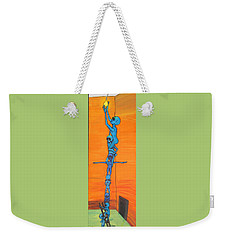 How Many Aliens Does It Take To Screw In A Light Bulb?  Seven. Weekender Tote Bag