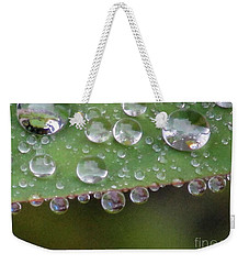 How Many Raindrops Can A Leaf Holds. Weekender Tote Bag