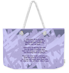 How Now Poem Weekender Tote Bag