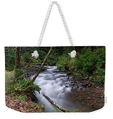 Weekender Tote Bag featuring the photograph How The River Flows by Jeff Swan