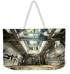 Weekender Tote Bag featuring the photograph How Long Was I Really Away / Art Abstract by Sheila Mcdonald