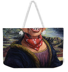 Weekender Tote Bag featuring the painting Howdy Doovinci by James W Johnson