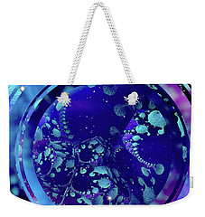 Weekender Tote Bag featuring the painting Hubble 3014 by Susan Maxwell Schmidt