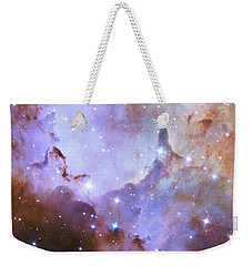 Weekender Tote Bag featuring the photograph Hubble Space Telescope Celebrates 25 Years Of Unveiling The Universe by Nasa