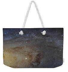 Weekender Tote Bag featuring the photograph Hubble's High-definition Panoramic View Of The Andromeda Galaxy by Adam Romanowicz