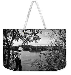 Huck Finn Type Walking On River  Weekender Tote Bag