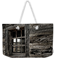 Weekender Tote Bag featuring the photograph Hudson Bay Fort Window by Brad Allen Fine Art