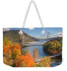Hudson River And Bridges Weekender Tote Bag by Clarence Holmes