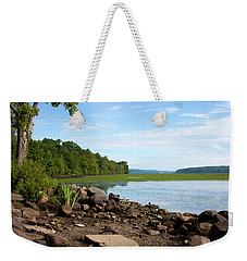 Weekender Tote Bag featuring the photograph Hudson River In Summer 2016 by Jeff Severson
