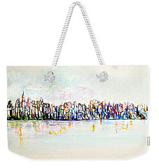 Hudson River View Weekender Tote Bag