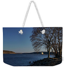 Hudson River With Lighthouse Weekender Tote Bag