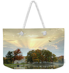 Weekender Tote Bag featuring the photograph Hudson Springs Morning by Ann Bridges