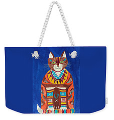 Huey Cat Weekender Tote Bag