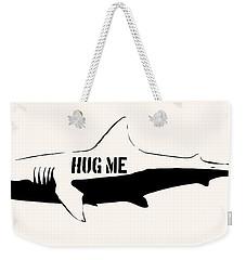 Hug Me Shark - Black  Weekender Tote Bag
