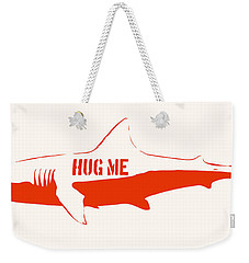 Hug Me Shark Weekender Tote Bag by Pixel Chimp