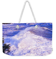 Weekender Tote Bag featuring the photograph Huge Wave In Ligurian Sea by Silvia Ganora