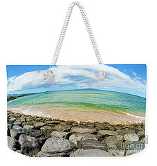 Weekender Tote Bag featuring the photograph Huge Wikiki Beach by Micah May