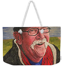 Weekender Tote Bag featuring the painting Hugh Hanson Davidson by Tom Roderick