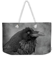 Weekender Tote Bag featuring the photograph Huginn... by Nina Stavlund