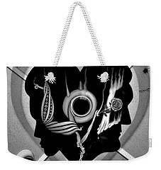 Weekender Tote Bag featuring the drawing Hugs And Kisses by Vincent Autenrieb