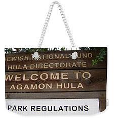 Hula Bird Sanctuary Weekender Tote Bag