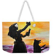 Hula Husky Weekender Tote Bag