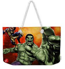 Hulk Weekender Tote Bag by Pete Tapang