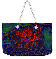 Human Barriers To The Subsconscious Weekender Tote Bag by Gina O'Brien