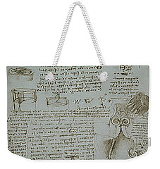Weekender Tote Bag featuring the painting Human Study Notes by James Christopher Hill