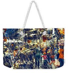 Human Traffic Weekender Tote Bag by Wayne Sherriff