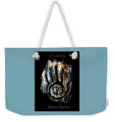 Humanity Native Symbol Weekender Tote Bag
