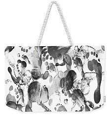 Weekender Tote Bag featuring the digital art Humans by Sladjana Lazarevic