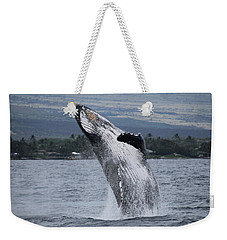 Weekender Tote Bag featuring the photograph Humback Whale Breaching by Pamela Walton