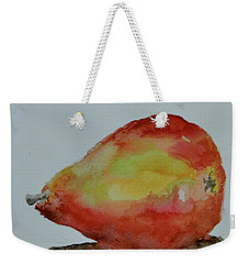 Weekender Tote Bag featuring the painting Humble Pear by Beverley Harper Tinsley