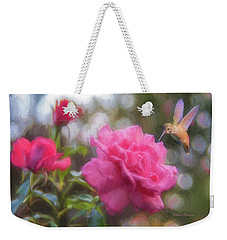 Hummer In The Garden Weekender Tote Bag