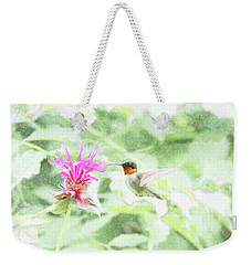 Humming Bird And Bee Balm Weekender Tote Bag