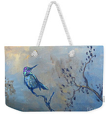 Weekender Tote Bag featuring the painting Humming Bird by Laurianna Taylor