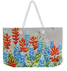Humming Birds Feeding On Wildflowers Weekender Tote Bag