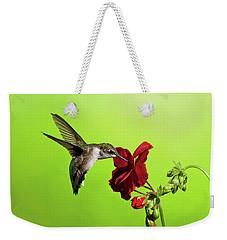Hummingbird And Gernanium Weekender Tote Bag