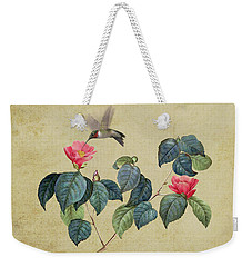 Hummingbird And Japanese Camillea Weekender Tote Bag