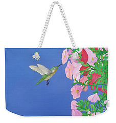 Hummingbird And Petunias Weekender Tote Bag