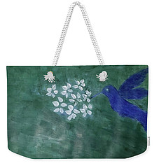 Hummingbird And The Lily Pads Weekender Tote Bag