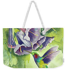 Hummingbird And Trumpets Weekender Tote Bag