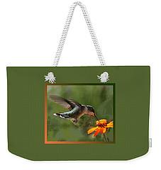 Hummingbird Art Weekender Tote Bag
