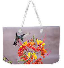Hummingbird At Work Weekender Tote Bag