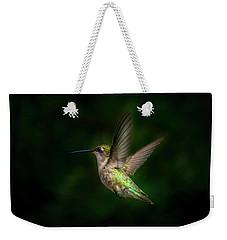 Hummingbird B Weekender Tote Bag