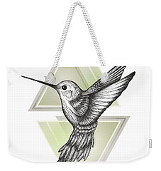 Hummingbird Weekender Tote Bag by Barlena