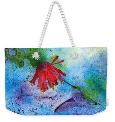 Hummingbird Batik Watercolor Weekender Tote Bag
