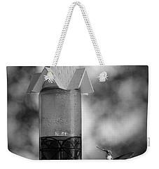 Hummingbird - Bw Weekender Tote Bag