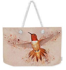 Hummingbird Color Splash II Weekender Tote Bag